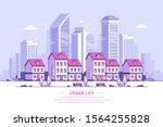 urban landscape  town street...   Shutterstock .eps vector #1564255828