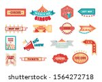 circus vintage labels and... | Shutterstock .eps vector #1564272718