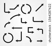 set of arrow icon vector design   Shutterstock .eps vector #1564287622