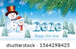 Happy New Year 2020. Greeting...