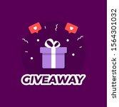 giveaway violet background.... | Shutterstock .eps vector #1564301032