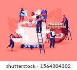 people cooking jam concept tiny ... | Shutterstock .eps vector #1564304302