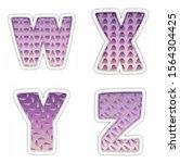 alphabet. letters w  x  y  z.