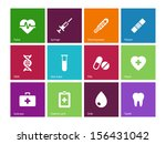 medical icons on color... | Shutterstock .eps vector #156431042