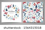 merry christmas greeting card.... | Shutterstock .eps vector #1564315018