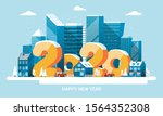 happy new year greeting card in ... | Shutterstock .eps vector #1564352308