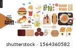 burger house   small business... | Shutterstock .eps vector #1564360582