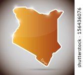 vintage sticker in form of kenya | Shutterstock . vector #156436076