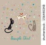 illustration set of funny cute... | Shutterstock .eps vector #156440348