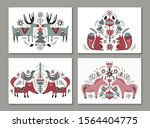 vector collection of greeting... | Shutterstock .eps vector #1564404775