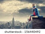a young boy dreams of becoming... | Shutterstock . vector #156440492