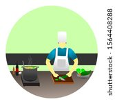 cook with pleasure in the... | Shutterstock .eps vector #1564408288