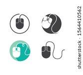 computer mouse icon vector... | Shutterstock .eps vector #1564410562