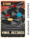 vinyl records store  vector...   Shutterstock .eps vector #1564420462