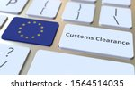 Customs Clearance Text And Flag ...