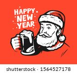 happy new year greeting card.... | Shutterstock .eps vector #1564527178