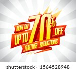 up to 70  off  further... | Shutterstock .eps vector #1564528948