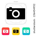 digital camera icon. vector...