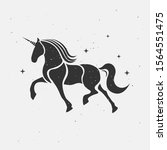 unicorn silhouette icon logo... | Shutterstock .eps vector #1564551475