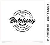 butchery shop logo design...   Shutterstock .eps vector #1564552015