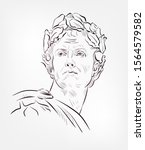 gaius julius caesar vector...   Shutterstock .eps vector #1564579582