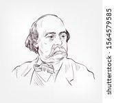 gustave flaubert vector sketch... | Shutterstock .eps vector #1564579585