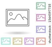 picture multi color icon....