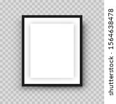 black realistic photo frame.... | Shutterstock .eps vector #1564638478