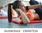 beautiful young women working... | Shutterstock . vector #156467216