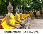 ancient buddha statue in temple | Shutterstock . vector #156467996
