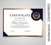 elegant blue and gold diploma... | Shutterstock .eps vector #1564693852