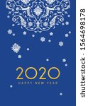 happy new 2020 year  ethnic... | Shutterstock .eps vector #1564698178