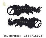set of grunge tennis designs.... | Shutterstock .eps vector #1564716925