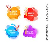 business refer friend icon set. ...