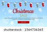 blue christmas sale web banner... | Shutterstock .eps vector #1564736365