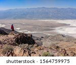 One person look over Death Valley from Dante