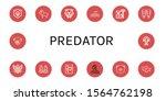 predator icon set. collection... | Shutterstock .eps vector #1564762198