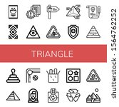 triangle simple icons set....   Shutterstock .eps vector #1564762252