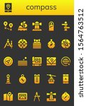compass icon set. 26 filled... | Shutterstock .eps vector #1564763512