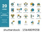 project management icon set.... | Shutterstock .eps vector #1564809058