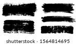 brush strokes. vector... | Shutterstock .eps vector #1564814695