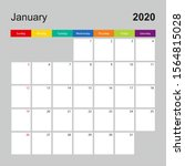 alendar page for january 2020  ... | Shutterstock .eps vector #1564815028