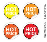 hot price stickers  labels. jpg. | Shutterstock . vector #156484196