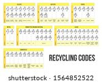 recycling code set. waste ... | Shutterstock .eps vector #1564852522