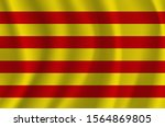the national flag of catalonia. ... | Shutterstock .eps vector #1564869805