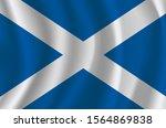the national flag of scotland.... | Shutterstock .eps vector #1564869838