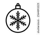 christmas ball with snowflake...