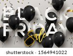 black friday balloon banner.... | Shutterstock .eps vector #1564941022