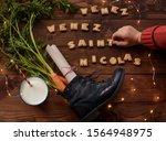 Card Saint Nicholas  With...