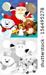 the coloring christmas page... | Shutterstock . vector #156495278